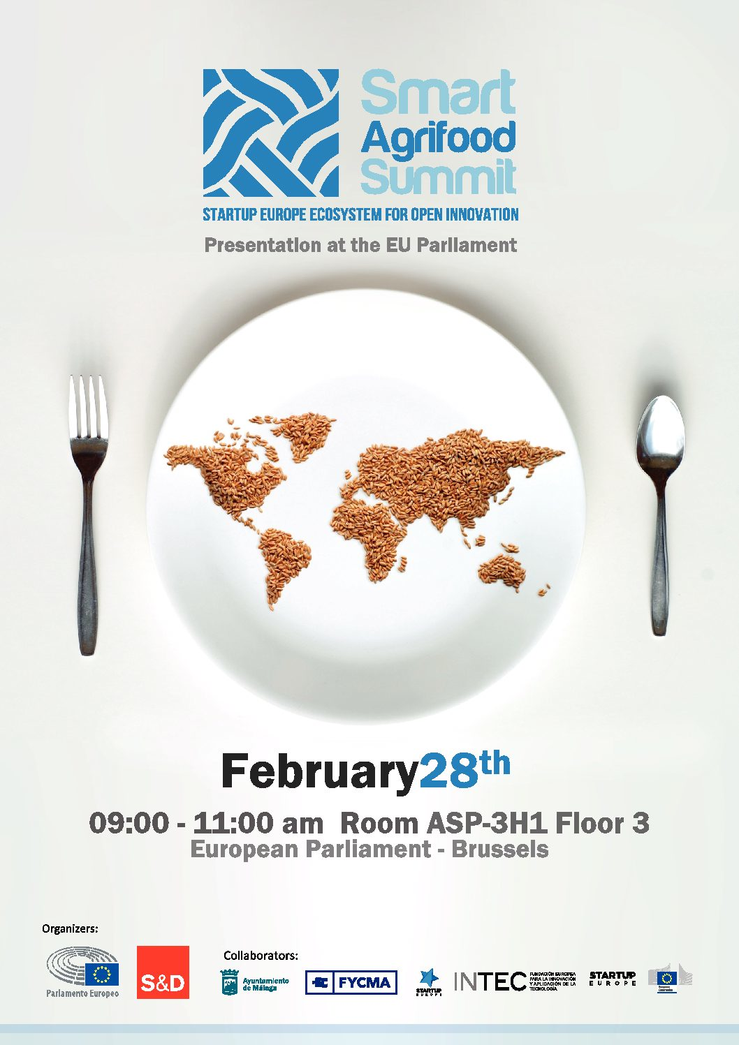 + Smart Agrifood Summit. Presentation at the Europe Parliament. Brussels. 28 th February