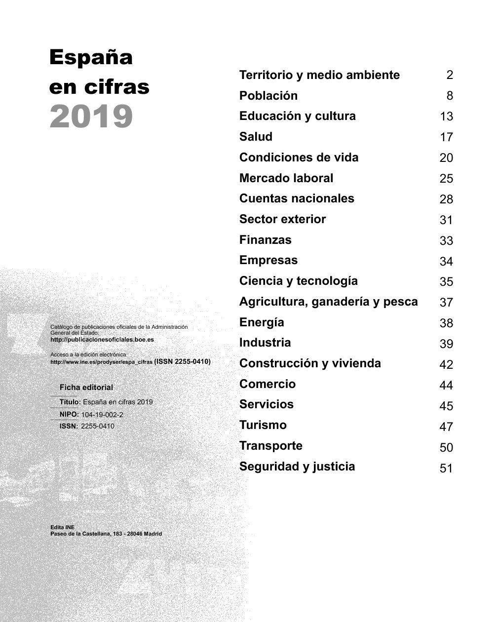 España en cifras 2019
